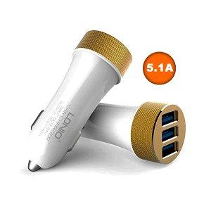 CARGADOR DE CARRO C/ CABLE MICRO USB 5.1 LDNIO DL-C50 BLANCO (ALTA CALIDAD)
