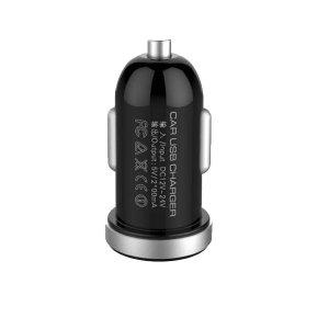 CARGADOR DE CARRO C/CABLE I5 LDNIO PREMIUM DL-C22 2 USB 2.1A NEGRO