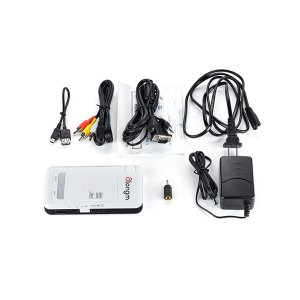 Atongm D9 Proyector mini HD inalámbrico con Wi-Fi Android LED Blanco